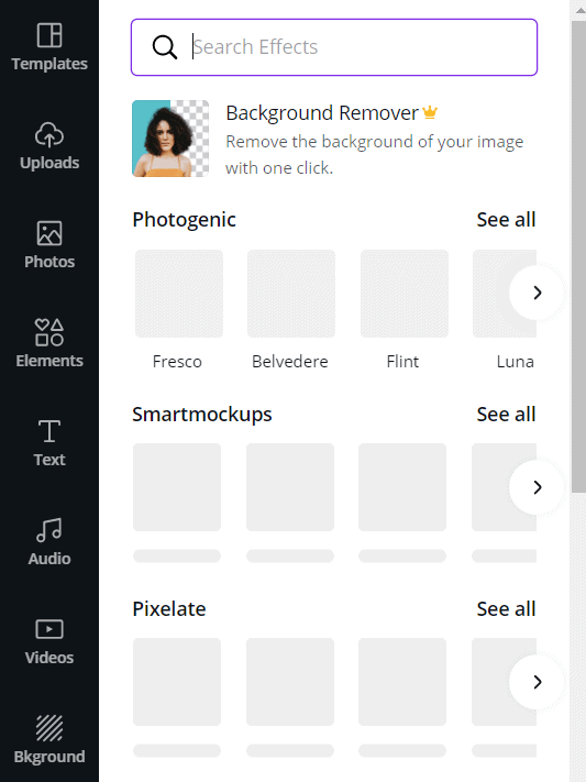 Canva-background remover